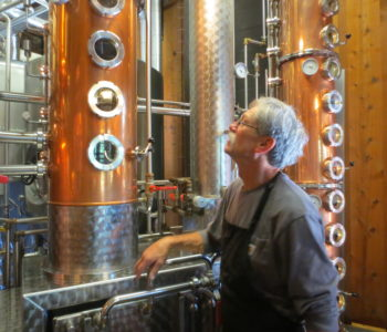 Mike Sherlock at the distillery