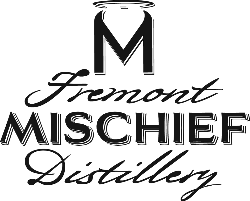 Fremont Mischief Distillery Word Art Only Logo Black