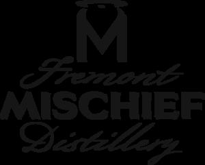 Fremont Mischief Distillery Word Art Only Logo Black
