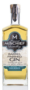 Barrel Finished Gin White Background
