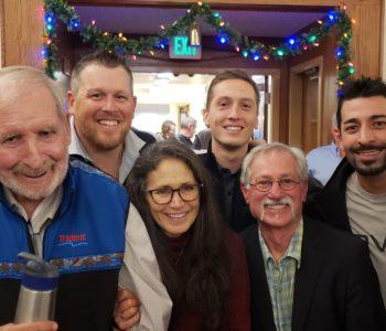 Capts Josh, Casey, Mike Sherlock, Chuck & Diane Bundrant of Titan Seafoods