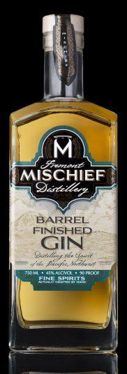 Barrel Finished Gin Black Background