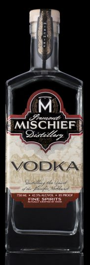 Mischief Vodka Black Background