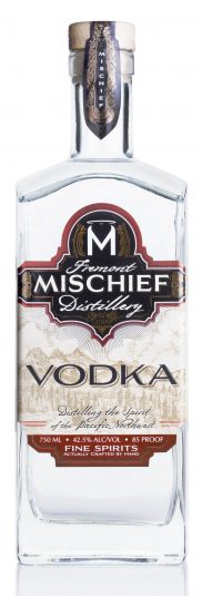Mischief Vodka White Background